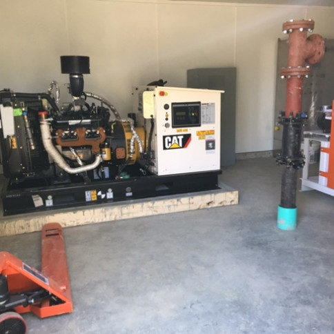 Generator in new station.