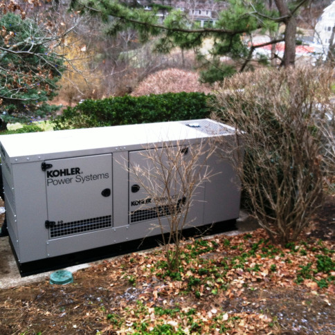 Finished installation, residential generator.